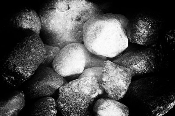 Rocks in Black and White