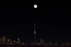 Super Moon Over CN Tower