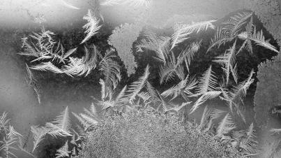 Frozen Window Closeup