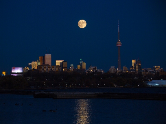 Supermoon Over Toronto