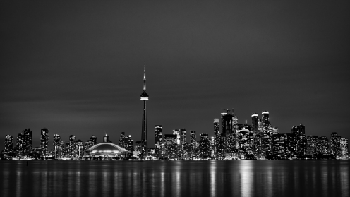 Toronto Skyline in Black and White