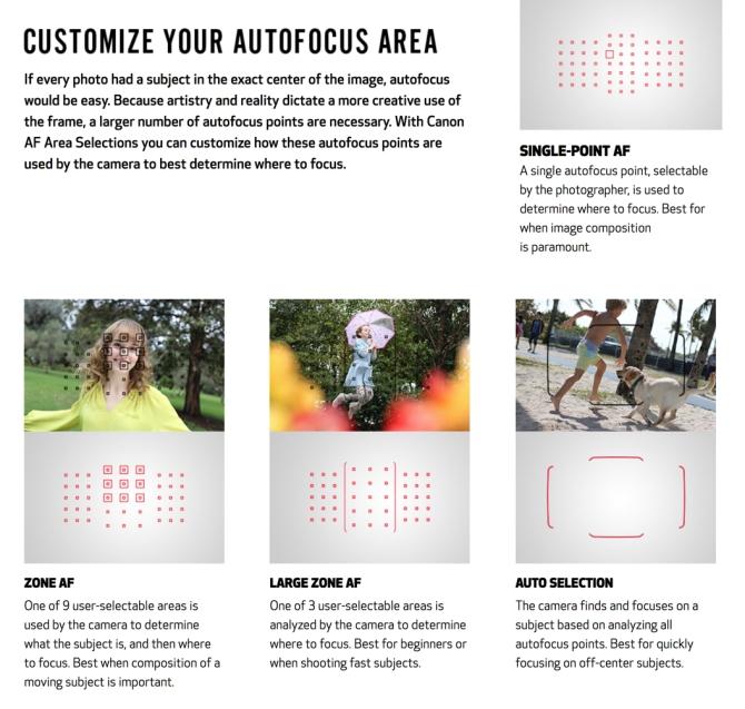 Autofocus Zones
