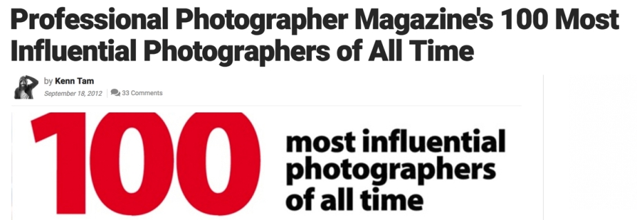 100 Most Influential Photographers