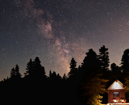 Milky Way and Cabin