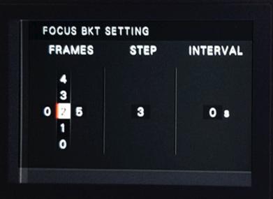 Focus Bracketing Settings