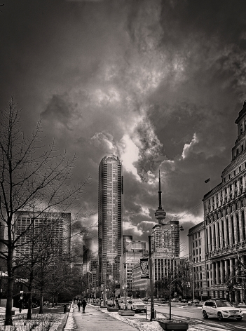Downtown Toronto in Winter