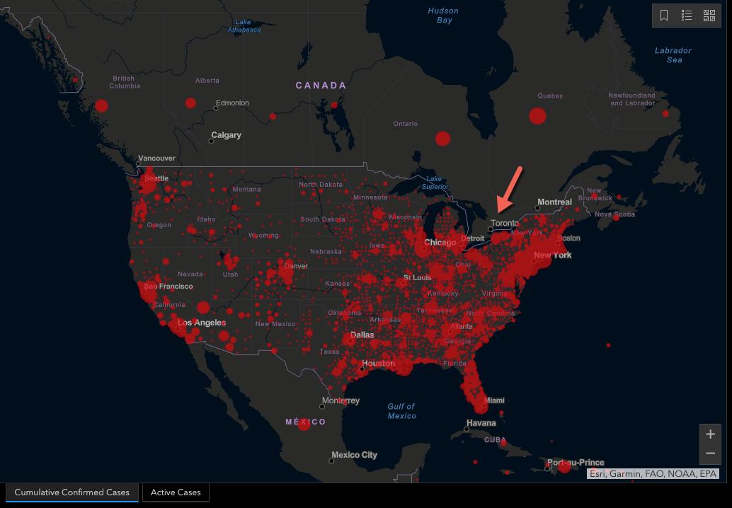Virus Cases - North America