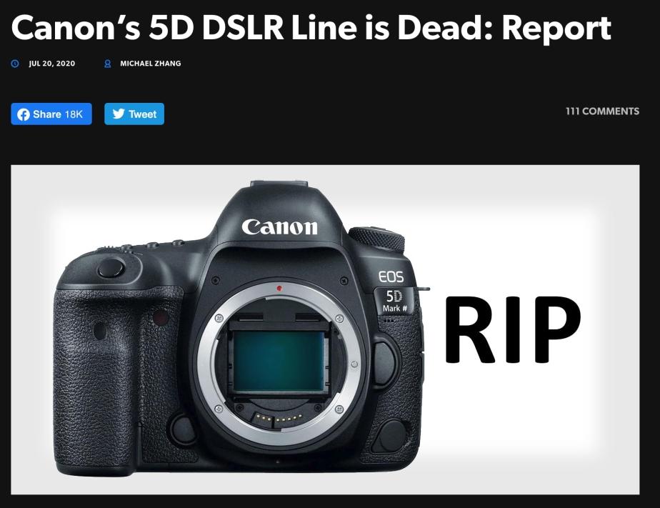 Canon DSLR is Dead