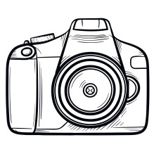 Camera hand drawn outline doodle icon
