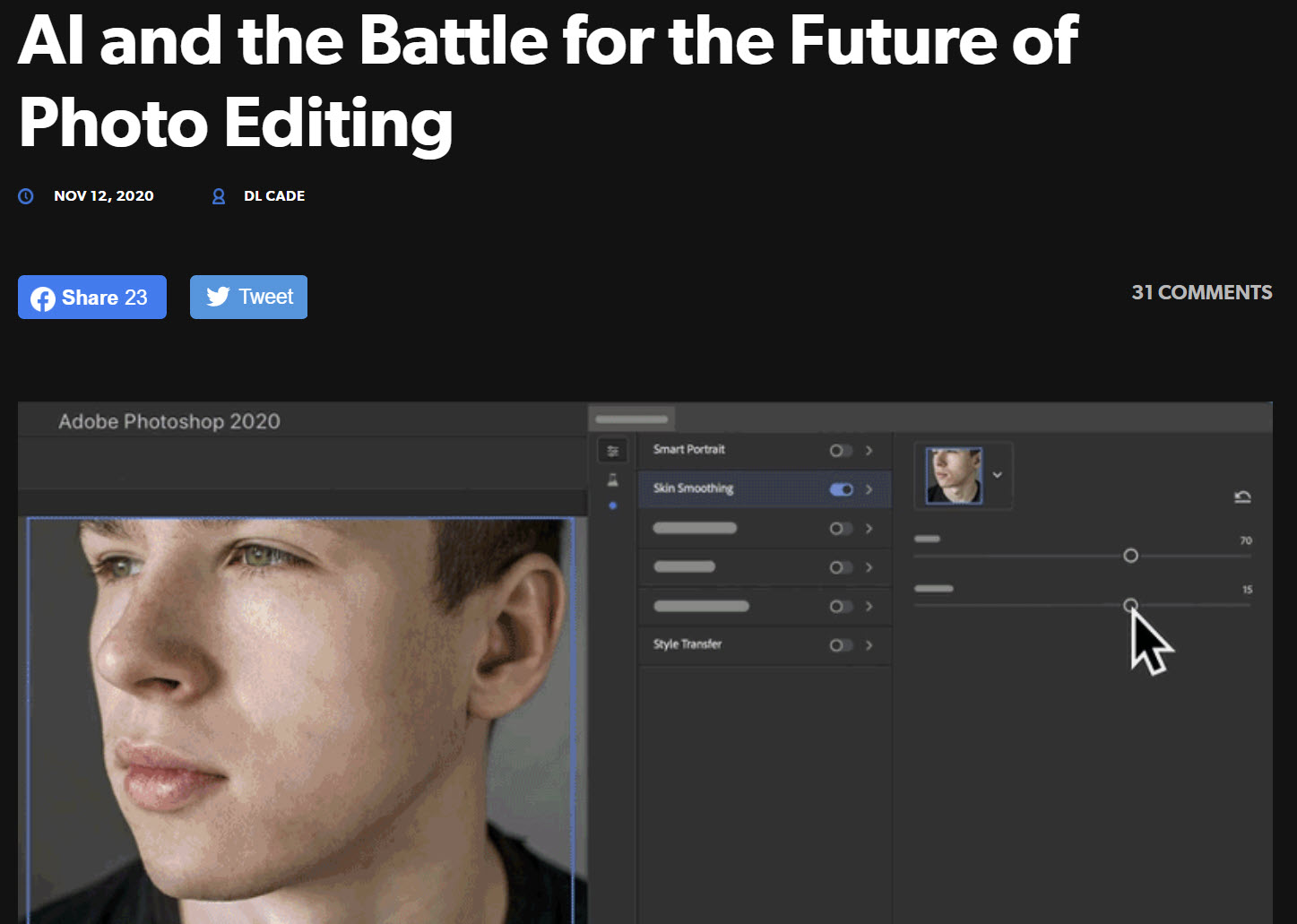 DL Cade - AI and the Battle for the Future of Photo Editing