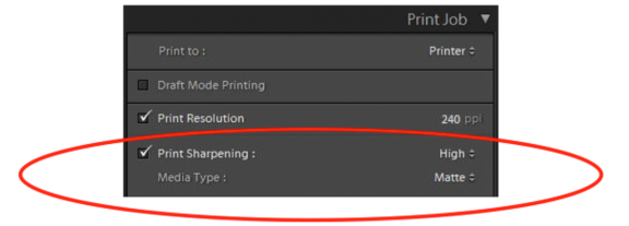 Print Sharpening